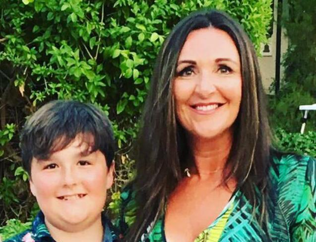 Former Thomas Cook employee Andrea Yates and her son. Photo: Andrea Yates / Yahoo Finance UK