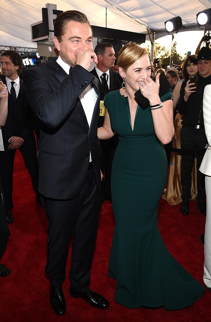 """<p>Winslet told Kimmel after the SAG awards """"We were giggling about it that night. I was like, 'Oh my God, can you actually believe it that people still get so overwhelmed by the Jack and Rose thing?"""" (Photo: Dimitrios Kambouris/Getty Images)</p>"""