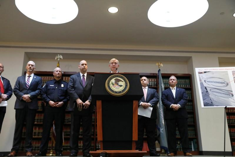 U.S. Attorney Richard P. Donoghue announces the filing of criminal charges accusing a New York company of exposing the U.S. government and private customers to security risks by illegally importing and selling surveillance and security equipment from China