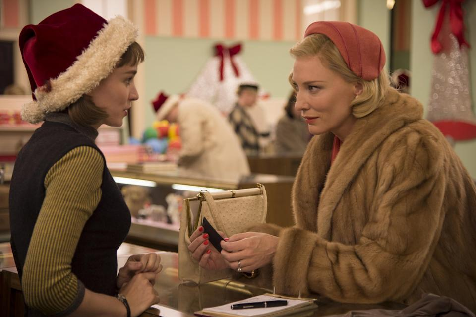 Rooney Mara and Kate Blanchett in Carol (Credit: The Weinstein Company)