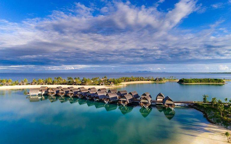 """<p>As the first (and, currently, only) resort on the main island of Fiji with overwater huts, we have no doubt this new hotel is about to become one of the most popular on the island. Guests can dive from their private decks directly intothose famous Fiji waters.</p><p><em><a rel=""""nofollow"""" href=""""http://www.marriott.com/hotels/travel/nanmc-fiji-marriott-resort-momi-bay/"""">See more at Fiji Marriott Resort Momi Bay »</a></em><a rel=""""nofollow"""" href=""""http://www.marriott.com/hotels/travel/nanmc-fiji-marriott-resort-momi-bay/""""></a></p>"""