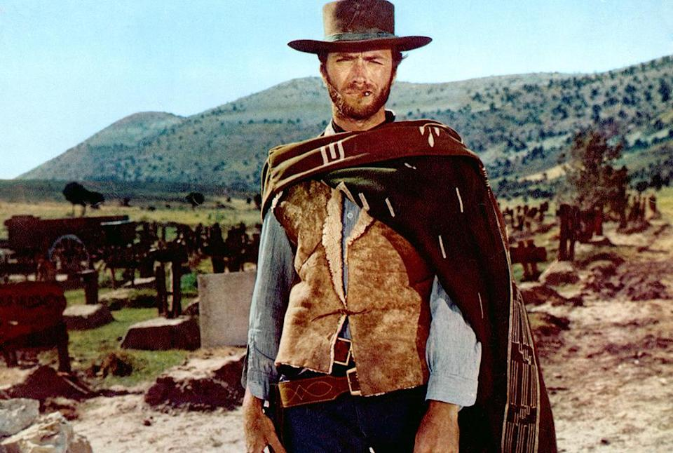 """<a href=""""http://movies.yahoo.com/movie/the-good-the-bad-and-the-ugly/"""" data-ylk=""""slk:THE GOOD, THE BAD, AND THE UGLY"""" class=""""link rapid-noclick-resp"""">THE GOOD, THE BAD, AND THE UGLY</a> (1968)<br>Directed by: <span>Sergio Leone</span> <br>Starring: <span>Clint Eastwood</span>, <span>Eli Wallach</span> and <span>Lee Van Cleef</span>"""