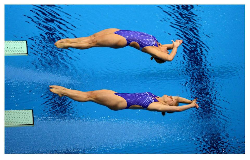 """<p>Swimming and diving are naturally sports where you <a href=""""https://www.yahoo.com/style/look-back-116-years-olympic-184939333/photo-hungarian-alfr-d-haj-s-1470771630545.html"""" data-ylk=""""slk:don't need that many clothes;outcm:mb_qualified_link;_E:mb_qualified_link;ct:story;"""" class=""""link rapid-noclick-resp yahoo-link"""">don't need that many clothes</a>. After all, you don't want bulky fabrics messing with your hydrodynamics. In the aughts, high-tech swimsuits gained popularity in swimming, as they were designed to make swimmers faster in the water, <a href=""""http://www.nytimes.com/2009/07/25/sports/25swim.html?_r=0"""" rel=""""nofollow noopener"""" target=""""_blank"""" data-ylk=""""slk:but were banned because they made them a little too fast"""" class=""""link rapid-noclick-resp"""">but were banned because they made them a little <i>too</i> fast</a>. Now, there are more regulations as to how much of the body the swimsuit can cover to make things or fair. </p><p><i>(Photo: Getty Images)</i><br></p>"""