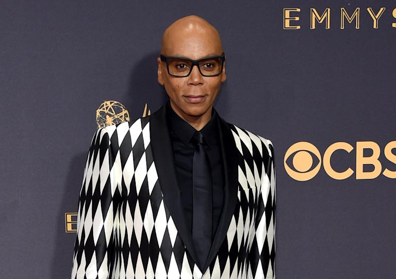 RuPaul Charles arrives at the 69th Annual Primetime Emmy Awards.