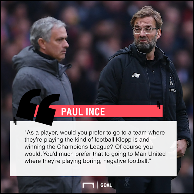 The former midfielder, who represented both clubs in his playing days, feels Anfield is a more attractive destination for signings than Old Trafford