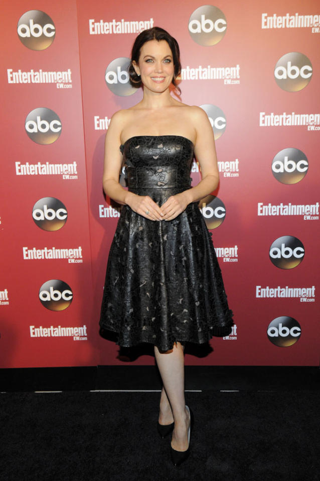 Bellamy Young attends the Entertainment Weekly & ABC 2013 New York Upfront Party at The General on May 14, 2013 in New York City.