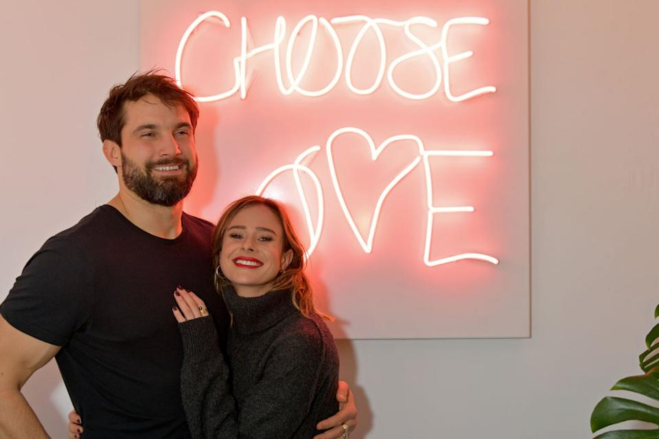 Camilla Thurlow married Jamie Jewett over the weekend, pictured together in November, 2019 (Getty Images)