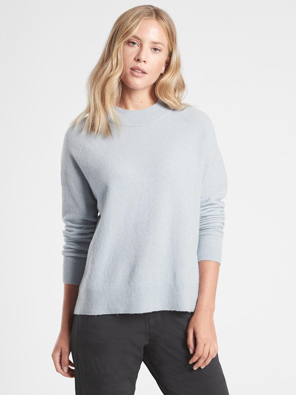<p>This <span>Athleta Hawthorn Crew Sweater</span> ($78, originally $98) is the perfect fit to throw on every day with a pair of jeans and sneakers.</p>