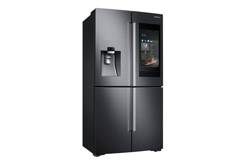 Smart Fridges Aren T Brand New But Samsung Unveiled A Talking Fridge At This Year S Ces It Can Also Work As The Hub For Other Home Gadgets