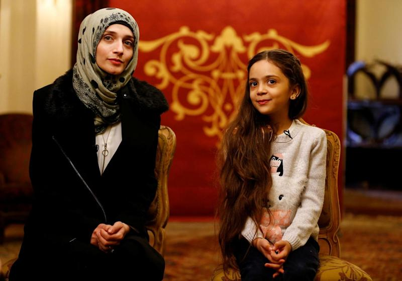 Bana Alabed with her mother Fatemah (Umit Bektas/Reuters)