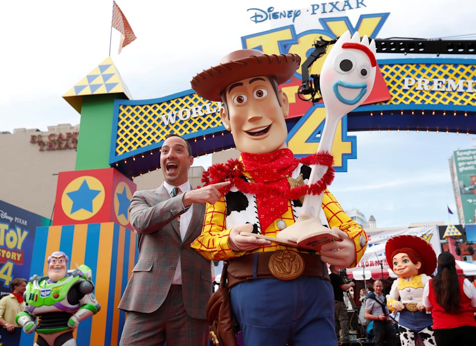 "Actor Tony Hale attends the premiere for ""Toy Story 4"" in Los Angeles, California, U.S., June 11, 2019. REUTERS/Mario Anzuoni"