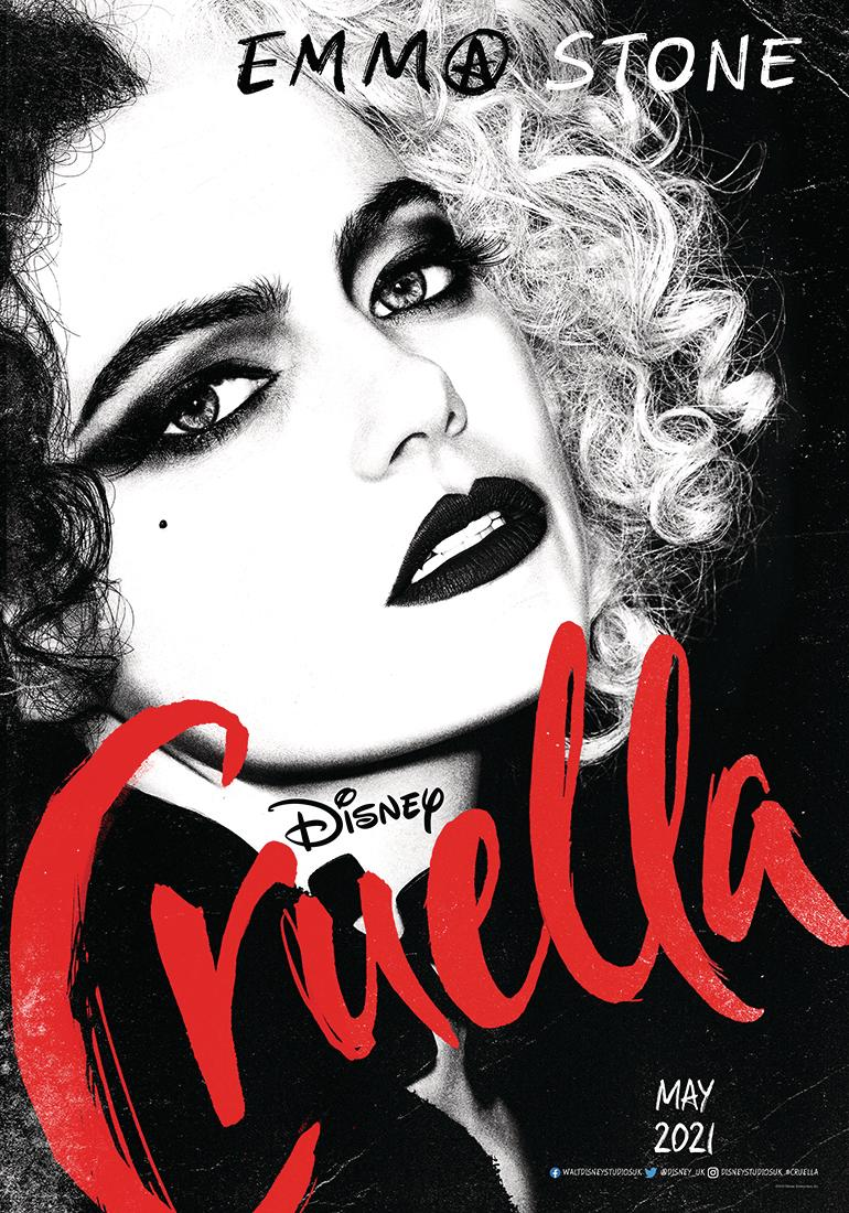 A new poster for Disney's Cruella, featuring Emma Stone (Disney)