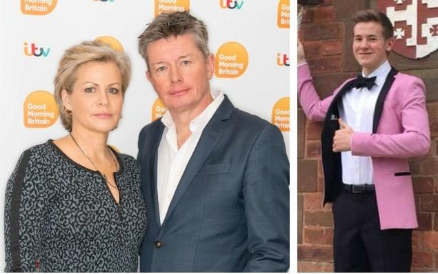 Richard Mason and his current wife Emma Louise and, right, his son Joel -  Ken McKay/ITV/REX