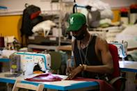 The Top Manta clothing company was set up in 2017 by the Barcelona Street Vendors Union, mostly made up of sub-Saharan Africans