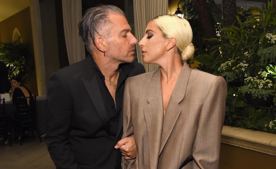 <span>Christian Carino and Lady Gaga at <em>Elle</em>'s Women in Hollywood celebration on Oct. 15. (Photo: Michael Kovac/Getty Images for Elle magazine)</span>