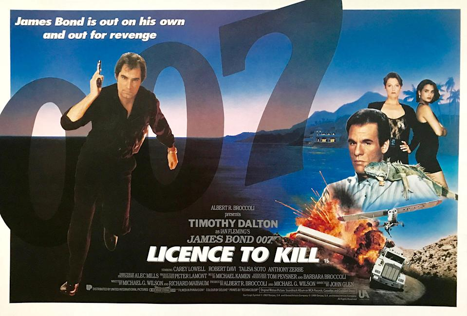 Dalton's brutal second Bond film is beloved by hardcore fans for finally giving them something close to Ian Fleming's original intentions. It's the only 15-rated Bond. (Eon/MGM)