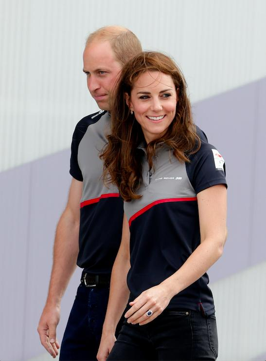 ce30252b743 Duchess of Cambridge Dresses Down In Personalised Jacket For America's Cup  Outing