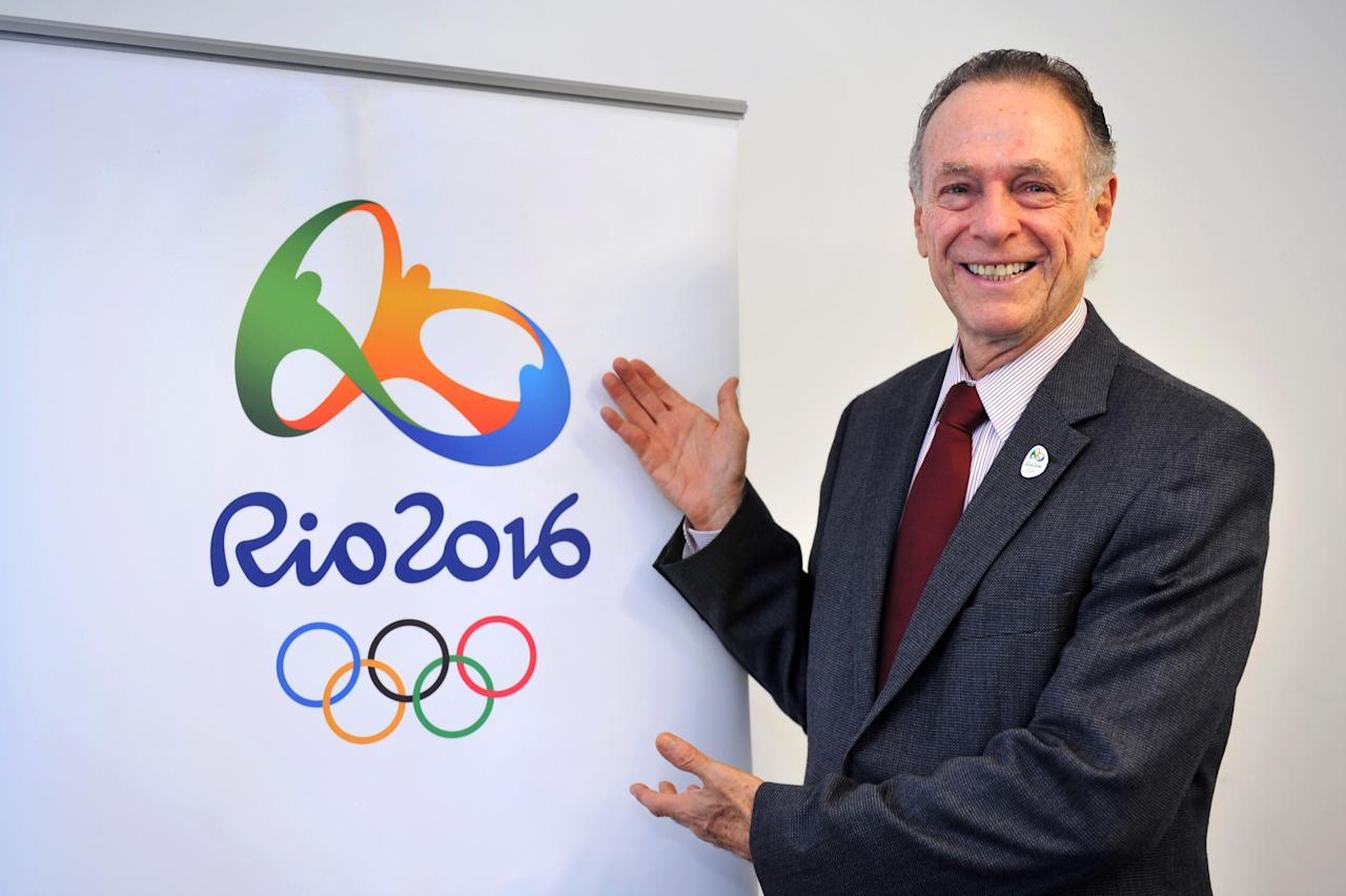Rio 2016 Olympics chief Carlos Nuzman smiles as he poses next to the Rio 2016 logo during a press conference on May 12, 2011 in Lausanne.    AFP PHOTO/ SEBASTIEN FEVAL (Photo credit should read SEBASTIEN FEVAL/AFP/Getty Images)