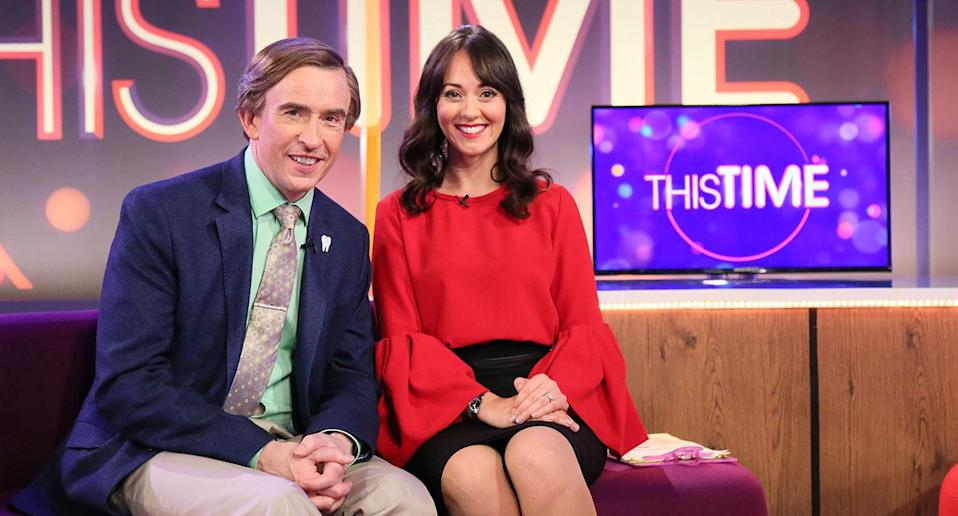 Alan Partridge (Steve Coggan), Jennie (Susannah Fielding) in <i>This Time With Alan Partridge</i>. (BBC/Baby Cow/Colin Hutton)