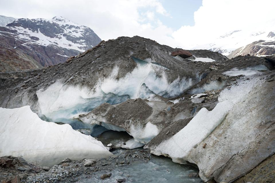 Italy's Forni glacier has retreated by almost 2km in the past 150 years (Getty Images)