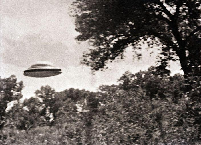 """<p>Back in 1963, <a href=""""https://time.com/4232540/history-ufo-sightings/"""" rel=""""nofollow noopener"""" target=""""_blank"""" data-ylk=""""slk:The Amalgamated Flying Saucer Club of America was proud to release this image"""" class=""""link rapid-noclick-resp"""">The Amalgamated Flying Saucer Club of America was proud to release this image</a> taken by one of their members. Is it proof that there were extraterrestrials on Earth? We may never know ...</p>"""