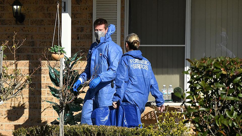Police forensic officers at Rita Camilleri's St Clair home. Source: AAP