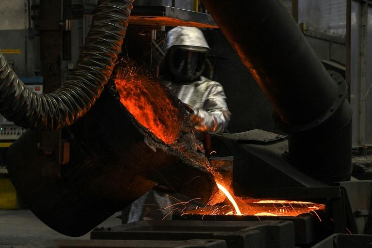 Germany's manufacturing industry has been jolted by a number of factors including trade conflicts, Brexit and slowing global growth (AFP Photo/PATRICK HERTZOG)