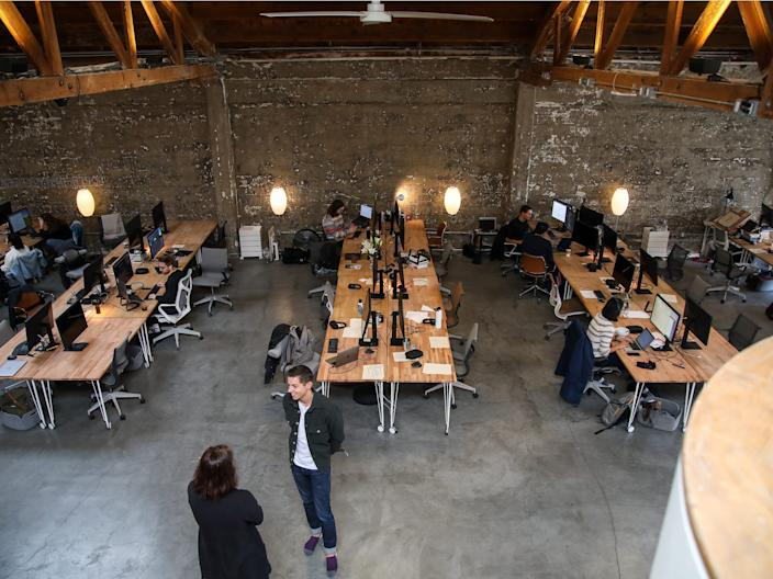 A startup office in San Francisco in 2019.