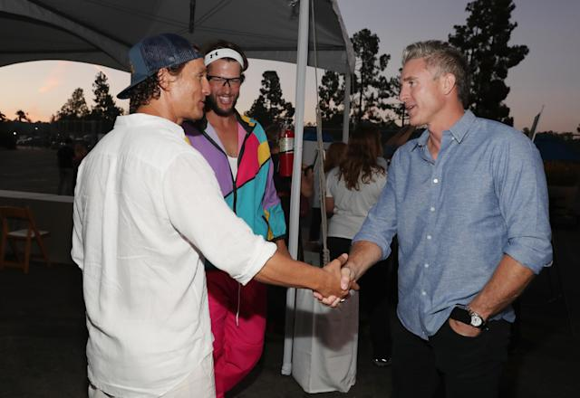 Matthew McConaughey and Chase Utley were among the A-list attendees. (Getty Images)