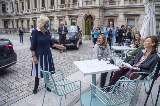 Duchess of Cornwall visit to the Royal Academy
