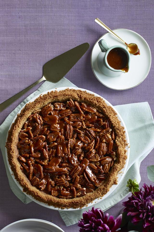 "<p>Because chocolate and nuts are the ultimate power duo. </p><p><a rel=""nofollow"" href=""https://www.womansday.com/food-recipes/food-drinks/recipes/a60505/salted-caramel-pecan-and-chocolate-pie-recipe/""><strong>Get the recipe.</strong></a></p>"