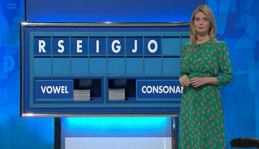 Rachel Riley appeared on Countdown yesterday (Channel 4)