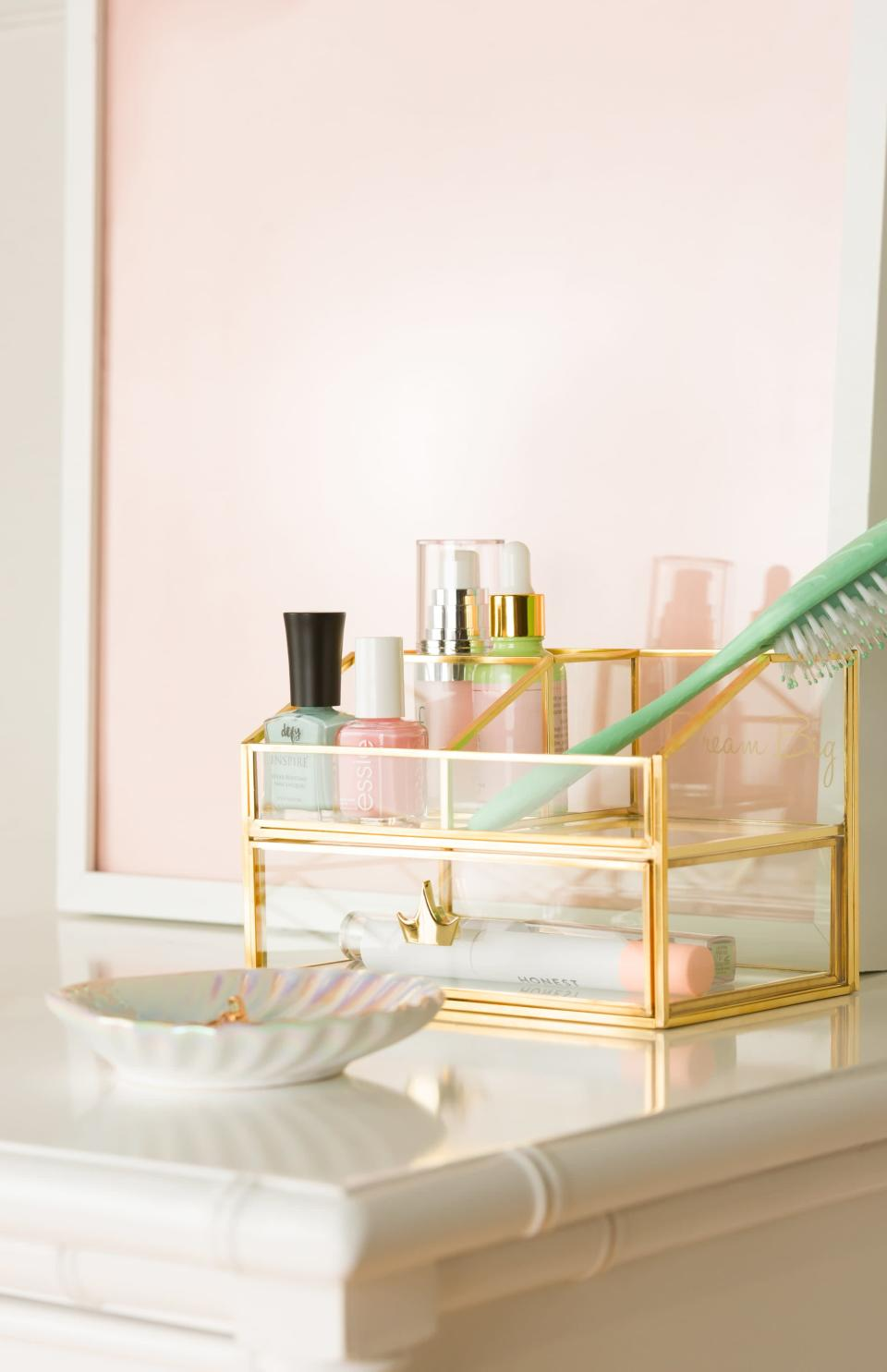 <p>Keep all your makeup and skincare products together in the <span> Disney Princess X POPSUGAR Beauty Organizer </span> ($25).</p>