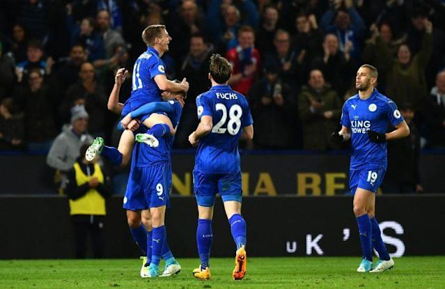 Super substitutes Marc Albrighton and Islam Slimani helped Leicester win