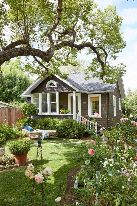 """<p>At 970 square feet, this quaint cottage is certainly on the larger side of the tiny house movement, but this little home has plenty of small-space design ideas. Built in 1890, the charming Redlands, California, property was originally the gardener's residence on a large estate.</p><p><a class=""""link rapid-noclick-resp"""" href=""""https://www.countryliving.com/home-design/house-tours/g3091/california-cottage-small-space-decorating-ideas/"""" rel=""""nofollow noopener"""" target=""""_blank"""" data-ylk=""""slk:SEE INSIDE"""">SEE INSIDE</a></p>"""