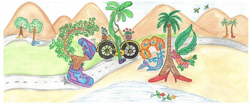 The Google Doodle titles 'The walking tree'. Image credit: Divyanshi Singhal/Google