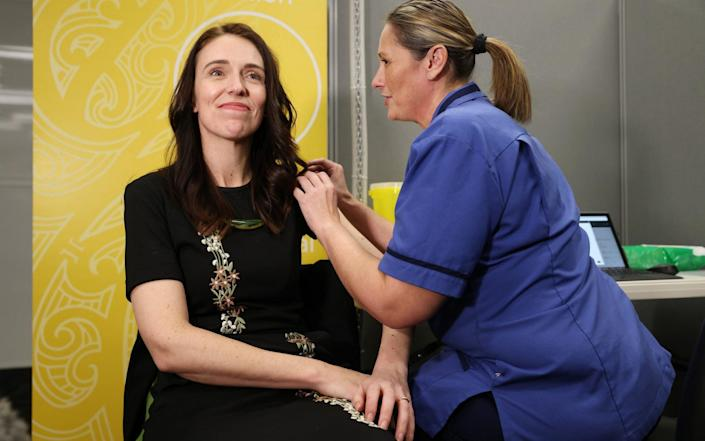 Jacinda Ardern receives her second Covid vaccine dose - Getty