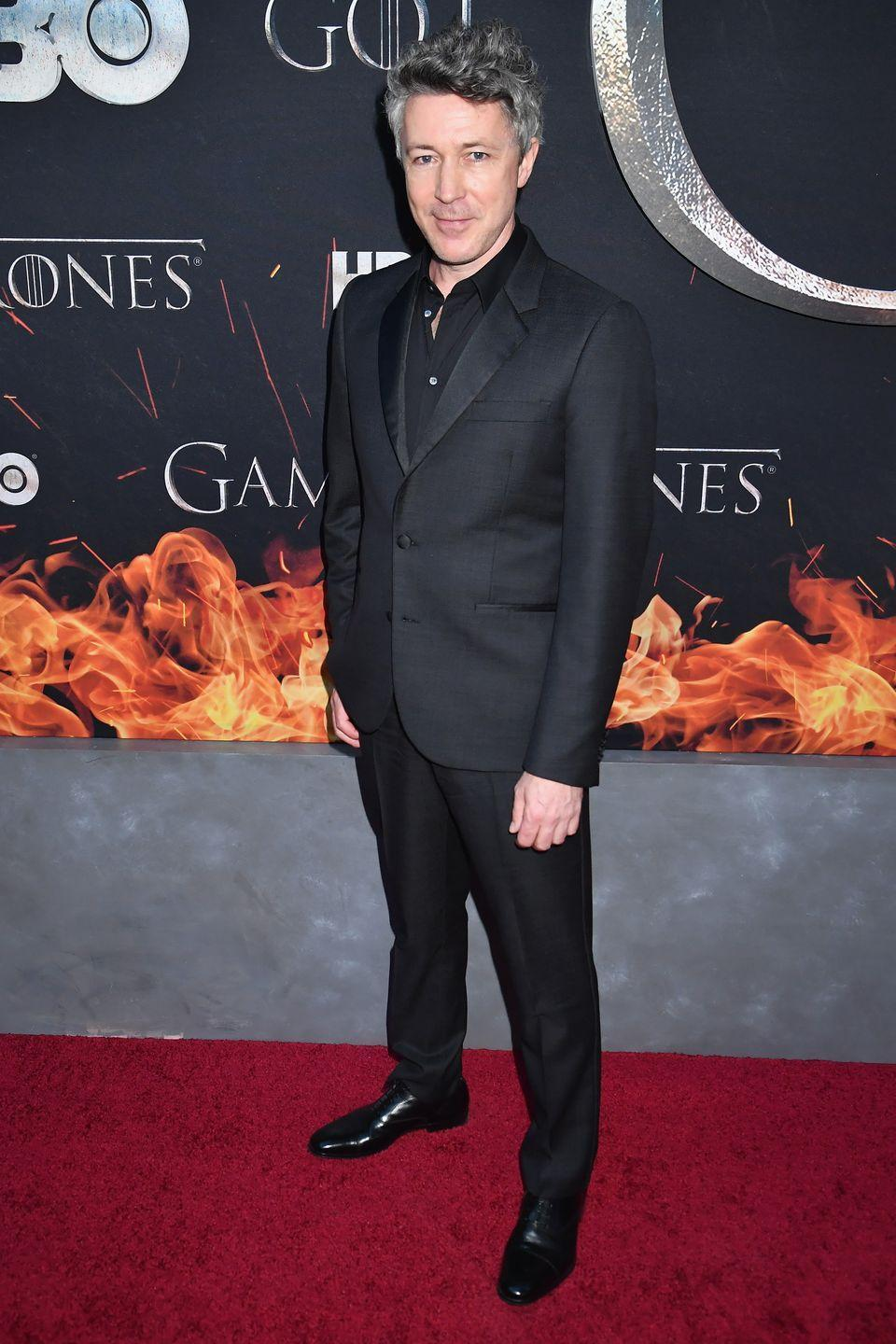 """<p>While you might have seen his recurring roles on <em>Peaky Blinders</em> and <em>Quantum Break</em>, or his small part in <em>The Dark Knight Rises</em>, Gillen is now best known as Petyr """"Littlefinger"""" Baelish from <em>Game of Thrones</em>.</p><p>He told <a href=""""https://www.denofgeek.com/us/movies/17479/aidan-gillen-interview-blitz-the-wire-game-of-thrones-and-fighting-jason-statham"""" rel=""""nofollow noopener"""" target=""""_blank"""" data-ylk=""""slk:Den of Geek"""" class=""""link rapid-noclick-resp"""">Den of Geek</a> of <em>The Wire</em>, """"It was definitely the show of a lifetime to be in—people have gone on about it so much, but it does live up to its reputation, thankfully. And I loved the part, but I don't think it's the role of my lifetime, no. I was part of an ensemble, and happy with that, but I've played more involved roles, and expect to in the future.""""</p>"""