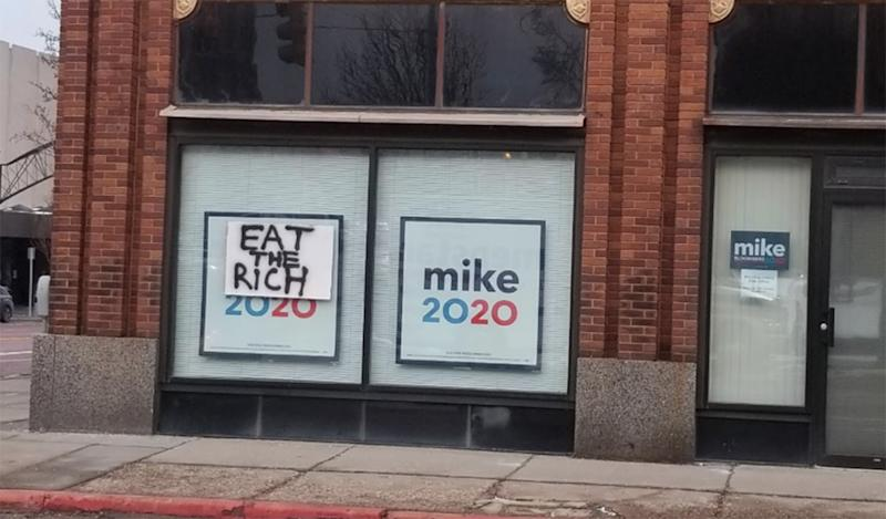 Image: Defaced Bloomberg campaign office