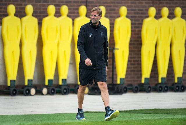 Liverpool's German manager Jurgen Klopp attends a team training session at their Melwood complex in Liverpool (AFP Photo/Oli SCARFF)