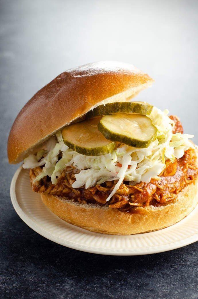 "<strong>Get the <a href=""https://umamigirl.com/bbq-pulled-chicken-for-instant-pot-or-slow-cooker/"" target=""_blank"" rel=""noopener noreferrer"">BBQ Pulled Chicken</a> recipe from Umami Girl.</strong>"