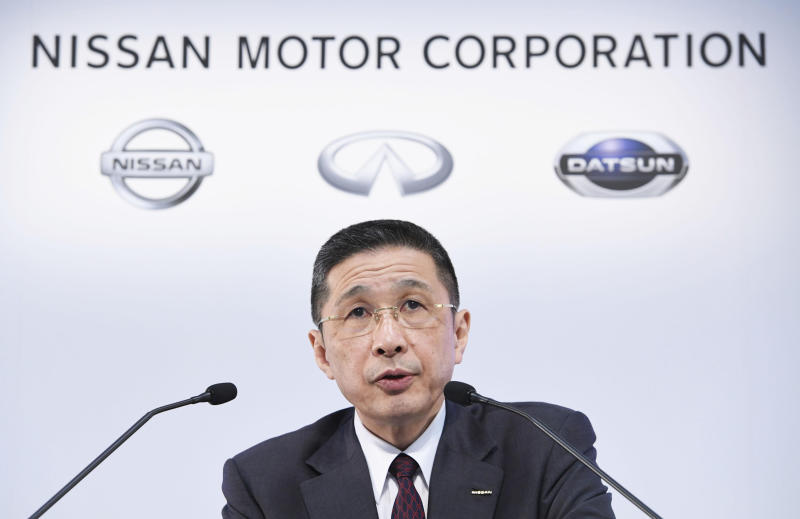 Nissan's profit drops amid former chair Ghosn's arrest