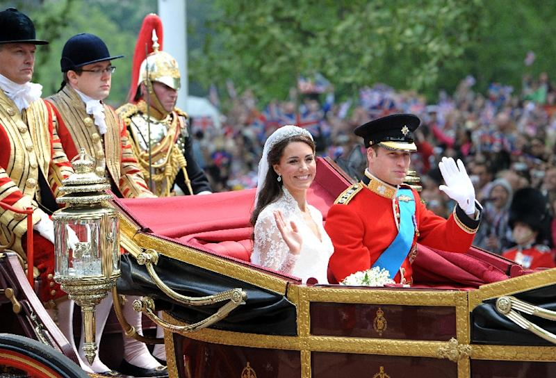 William and Kate were married at Westminster Abbey in London
