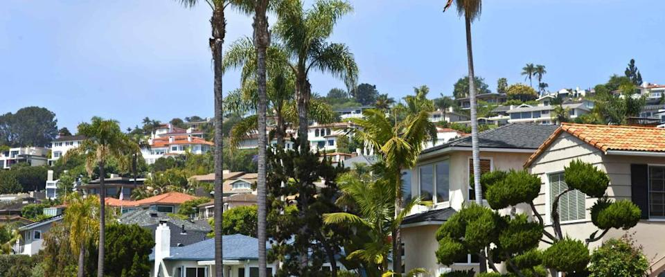 Residential houses in San Diego Point Loma California.