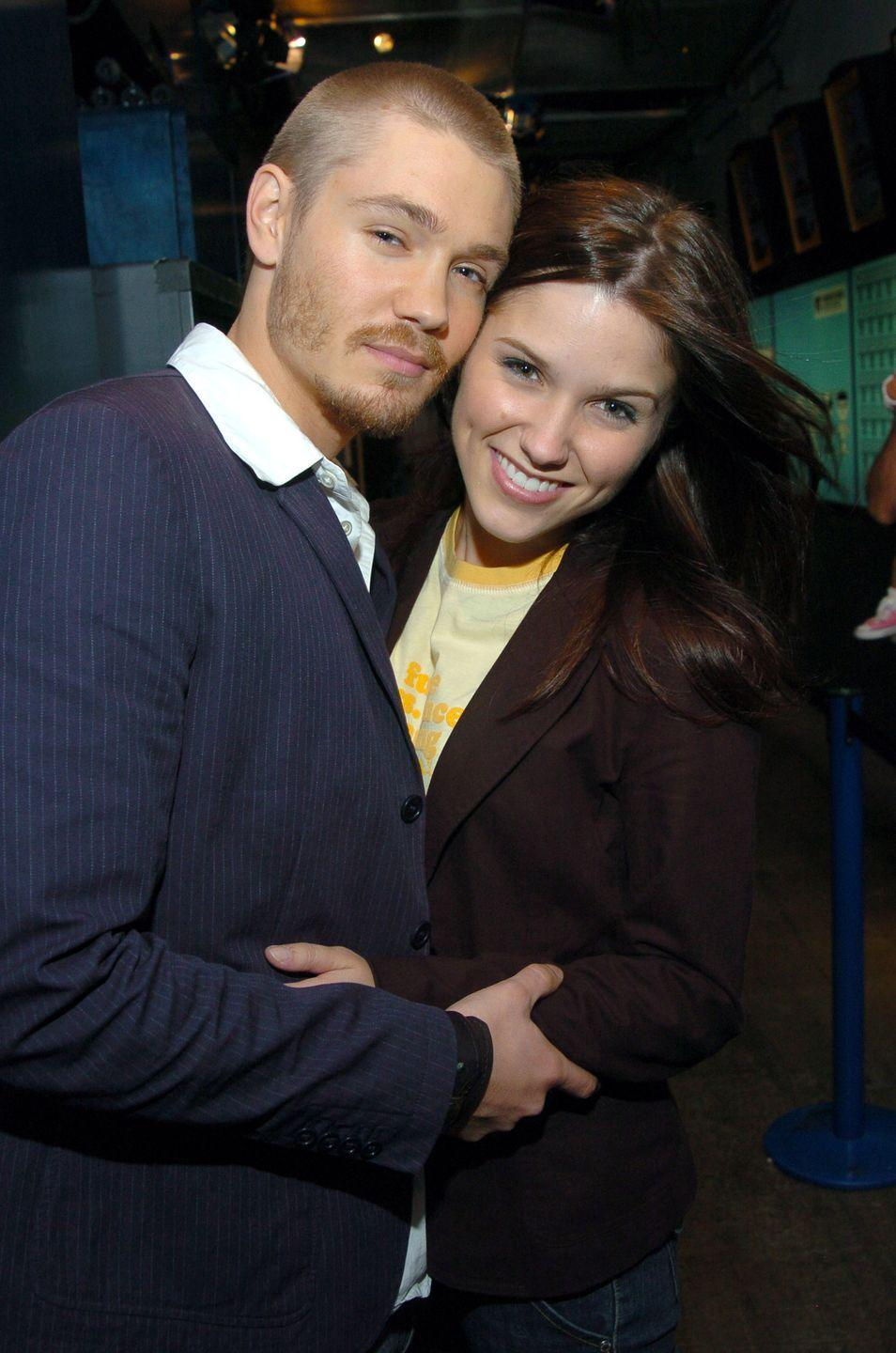 """<p>The <em>One Tree Hill</em> costars <a href=""""http://people.com/celebrity/chad-michael-murray-marries-sophia-bush/"""" rel=""""nofollow noopener"""" target=""""_blank"""" data-ylk=""""slk:tied the knot"""" class=""""link rapid-noclick-resp"""">tied the knot</a> in a Santa Monica ceremony with handwritten vows in April 2005. Only five months later, they <a href=""""http://people.com/celebrity/chad-michael-murray-sophia-bush-split/"""" rel=""""nofollow noopener"""" target=""""_blank"""" data-ylk=""""slk:announced"""" class=""""link rapid-noclick-resp"""">announced</a> their separation. In a 2017 <a href=""""https://www.cosmopolitan.com/sex-love/a8579094/why-to-stop-seeking-the-one/"""" rel=""""nofollow noopener"""" target=""""_blank"""" data-ylk=""""slk:essay for Cosmo"""" class=""""link rapid-noclick-resp"""">essay for <em>Cosmo</em></a>, Sophia wrote that the """"trauma of it was amplified by how public it became, which was incredibly foreign and bizarre to a girl who'd been just another college kid 24 months before her life blew up.""""</p>"""