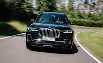 """<p>We all have that crazy friend we're sure is the craziest kind of crazy someone could legally get. Like the 523-hp twin-turbo V-8 powered <a href=""""https://www.caranddriver.com/bmw/x7"""" rel=""""nofollow noopener"""" target=""""_blank"""" data-ylk=""""slk:BMW X7"""" class=""""link rapid-noclick-resp"""">BMW X7</a> M50i. That's crazy, but wait until you meet its family. The <a href=""""https://www.caranddriver.com/news/a32579382/2021-alpina-xb7-photos-info/"""" rel=""""nofollow noopener"""" target=""""_blank"""" data-ylk=""""slk:Alpina XB7"""" class=""""link rapid-noclick-resp"""">Alpina XB7</a> kicks-up an additional 90 horsepower thanks to larger turbochargers. And despite weighing almost 5864 pounds, the XB7 managed a <a href=""""https://www.caranddriver.com/reviews/a33274798/2021-alpina-xb7-drive/"""" rel=""""nofollow noopener"""" target=""""_blank"""" data-ylk=""""slk:3.7-second launch to 60 mph during our testing"""" class=""""link rapid-noclick-resp"""">3.7-second launch to 60 mph during our testing</a>. It's a fun climb too, with 590 pound-feet of torque available from 2000 to 5000 rpm. A combination of big torque and smooth shifts from the eight-speed automatic means there's plenty of fun to be had well under its nutty 180-mph top-speed limit. </p><p><a class=""""link rapid-noclick-resp"""" href=""""https://www.caranddriver.com/bmw/x7/specs/2021/bmw_x7_bmw-alpina-xb7_2021/414861"""" rel=""""nofollow noopener"""" target=""""_blank"""" data-ylk=""""slk:MORE ALPINA XB7 SPECS"""">MORE ALPINA XB7 SPECS</a></p>"""
