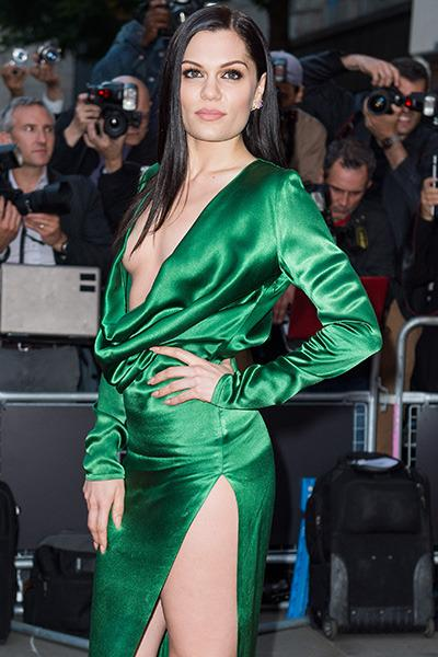 Jessie J's ill-fitting emerald satin gown raises more questions than answers, starting with 'why?'.