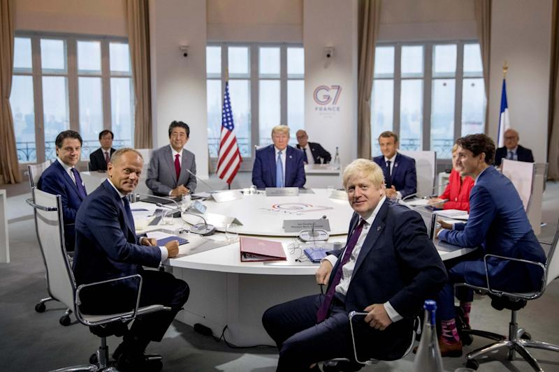 A G7 working session in Biarritz (REUTERS)