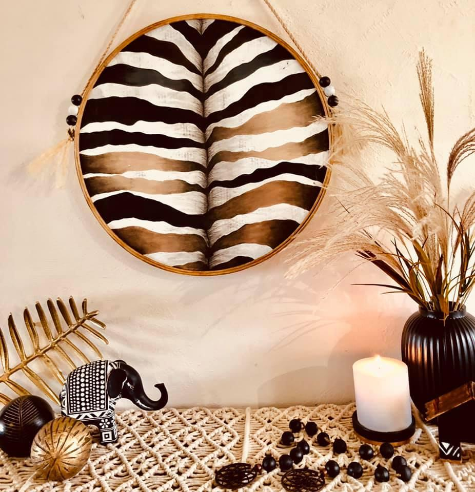 Kmart Africa-themed mirror animal print looks like Zebra bum detail derails DIY