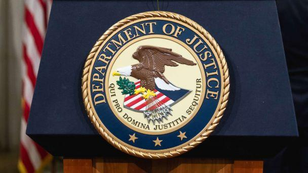 PHOTO: The Department of Justice seal is pictured in Washington, D.C., April 12, 2018. (Cheriss May/NurPhoto via Getty Images, FILE)